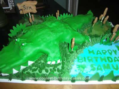 Homemade Alligator Cake