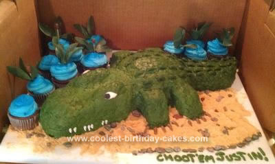 Homemade Alligator Swamp People Cake