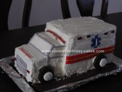 Coolest Ambulance Birthday Cake Design 4