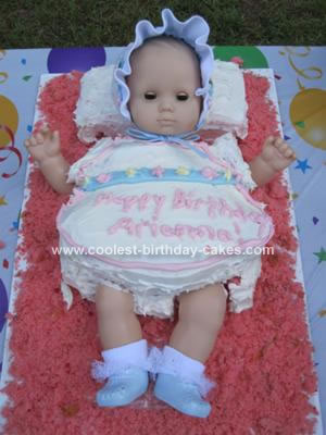 Birthday Cake Ideas  Boys on Homemade American Girl Bitty Baby 1st Birthday Cake