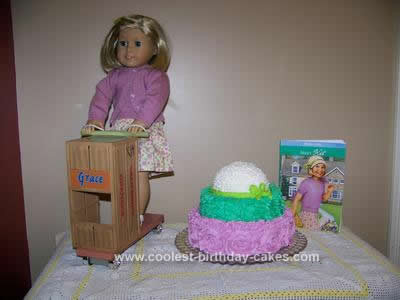 Homemade American Girl Kit Kittredge Cake