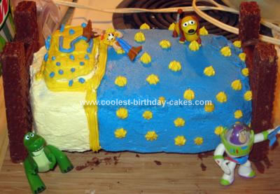 Homemade Andy's Bed from Toy Story Cake
