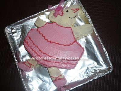 Homemade Angelina Ballerina Birthday Cake