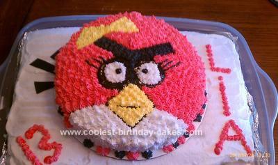 Homemade Angry Bird Cake