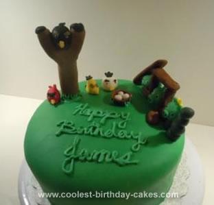 Homemade Angry Birds Cake