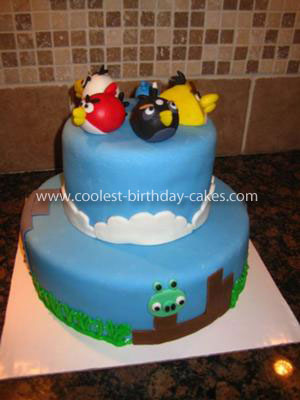 Sports Birthday Cakes on Homemade Angry Birds Cake