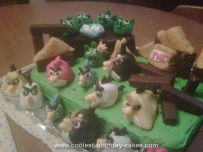 Homemade Angry Birds Cake
