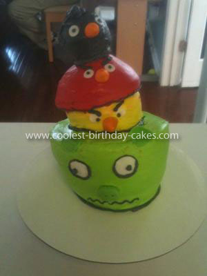 Homemade Angry Birds Gone Wild Cake