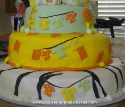Homemade Animal Print Baby Shower Cake