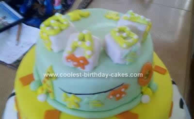 Homemade Baby Shower Cakes on Homemade Animal Print Baby Shower Cake