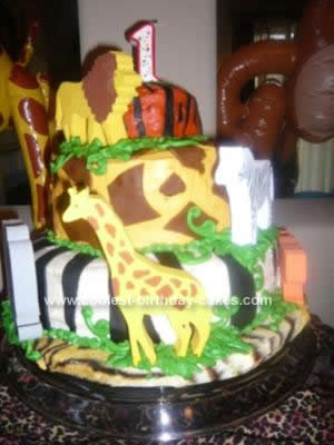 Homemade Animal Print Cake