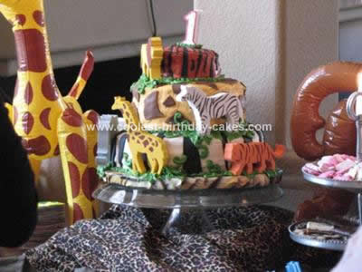 Homemade  Animal Print Cake Design