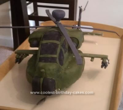 Homemade Apache Helicopter Cake