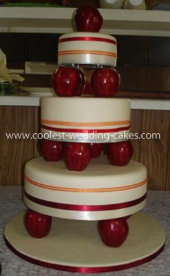 Apple Themed Wedding Cake