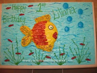 Homemade Aquarium Birthday Cake