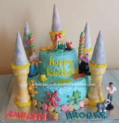 Homemade Ariel Castle Cake