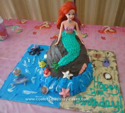 train birthday cake Mermaid Ariel Birthday Cake Ideas
