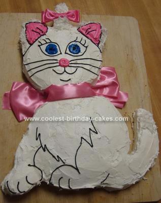 Homemade Aristocat Marie Cake