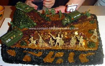 Homemade Army Battlefield Cake