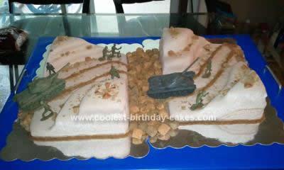 Homemade Army in the Desert Cake