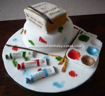 Homemade Artist Birthday Cake