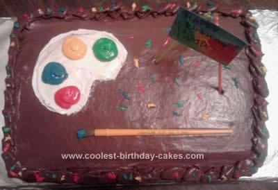 Homemade Artist Palette Cake
