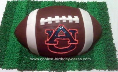 Homemade Auburn Football Cake