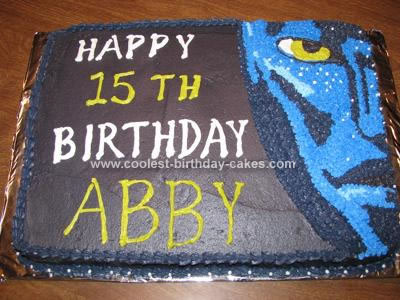 Homemade Avatar Birthday Cake