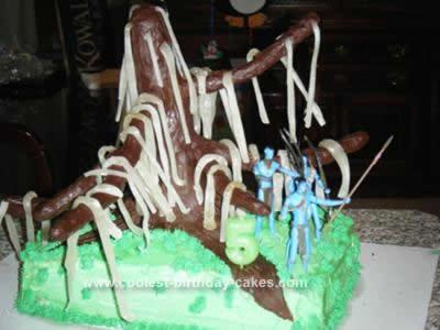 Homemade Avatar Tree of Souls Birthday Cake
