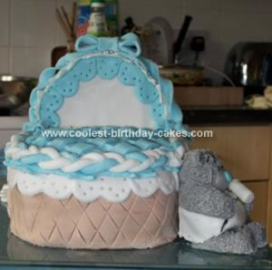 Homemade Baby Basket Cake