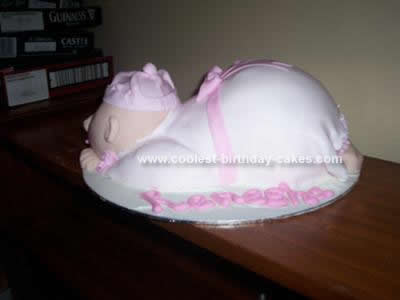 Homemade Baby Birthday Cake