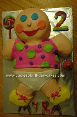 Homemade Baby Birthday Cake Design