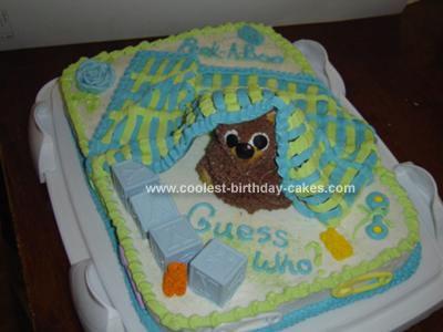 Homemade Baby Blanket Cake