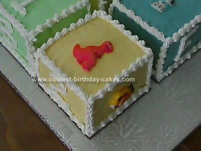 Homemade Baby Block Cake