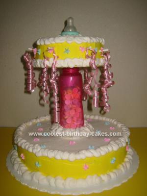 Homemade Baby Bottle Cake