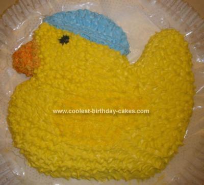 Homemade  Baby Boy Duckie Cake