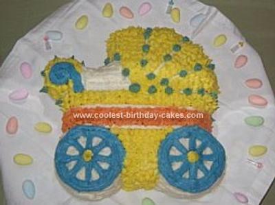 Homemade Baby Buggy Cake