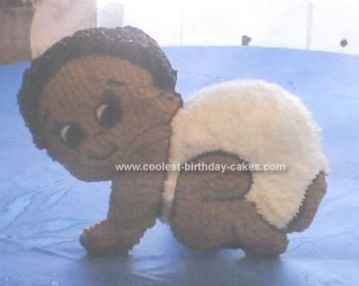 Homemade Crawling Baby Cake
