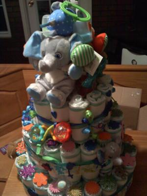 Homemade Baby Diaper Cake Design