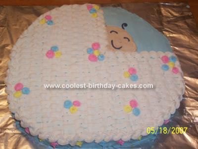 Baby in Basket Cake