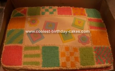 Baby Quilt Cake