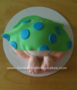 Homemade Baby Rump Cake