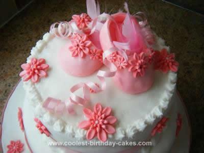 Homemade Baby Shoe Cake