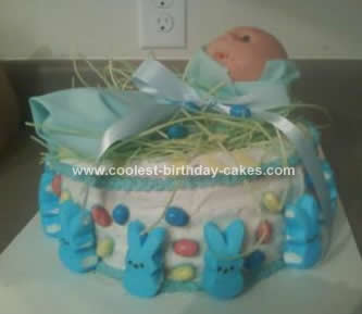 Homemade Baby Shower Cake Design