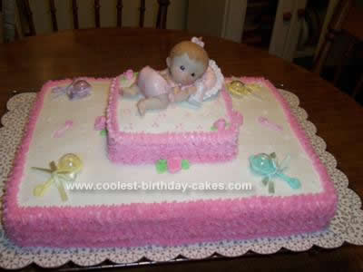 coolest baby shower cake design 56