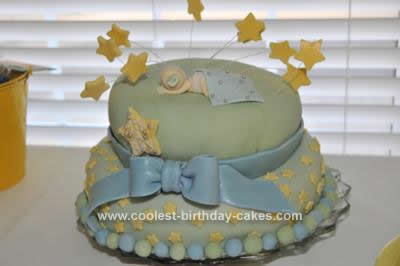Homemade Baby Shower Cake Idea
