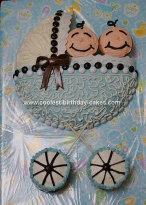 Homemade Baby Shower Carriage Cake