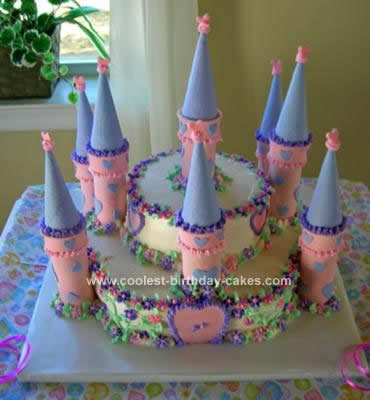 Homemade Baby Shower Castle Cake