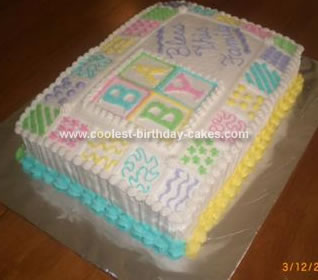 Homemade Baby Shower Quilt Cake
