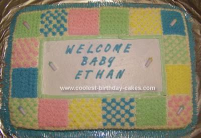 Homemade Baby Shower Quilt Cake